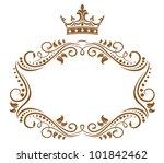Elegant Royal Frame With Crown...
