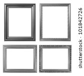 4 Silver Frame On White...
