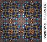 cotton or silk headscarf ... | Shutterstock .eps vector #1018428142