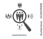 human resource  conceptual... | Shutterstock .eps vector #1018439008