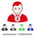 unhappy 2nd prizer sportsman... | Shutterstock .eps vector #1018444102