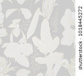 seamless floral pattern wit... | Shutterstock .eps vector #1018445272