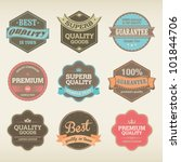 icons with labels in vintage... | Shutterstock .eps vector #101844706