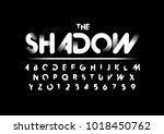 vector of modern abstract font... | Shutterstock .eps vector #1018450762
