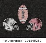 american football helmets... | Shutterstock . vector #101845252