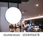 signboard shop mock up logo... | Shutterstock . vector #1018456678