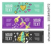 horizontal banners set with... | Shutterstock .eps vector #1018456972