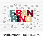 finance concept  painted...   Shutterstock . vector #1018462876