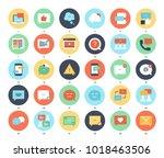 vector set of message bubbles... | Shutterstock .eps vector #1018463506
