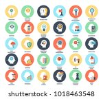 vector set of business and... | Shutterstock .eps vector #1018463548