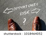 time to decide  opportunity or... | Shutterstock . vector #1018464052