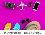 top view of traveler's... | Shutterstock . vector #1018467862