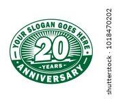 20 years anniversary.... | Shutterstock .eps vector #1018470202