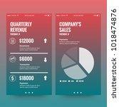 quarterly reveunue and conpany... | Shutterstock .eps vector #1018474876