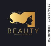 beauty logo. vector logo design ... | Shutterstock .eps vector #1018479112