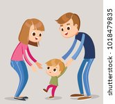parents with baby son | Shutterstock .eps vector #1018479835