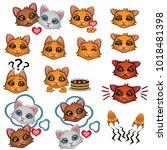 vector illustration. seals... | Shutterstock .eps vector #1018481398