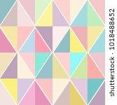 geometric vector seamless... | Shutterstock .eps vector #1018488652