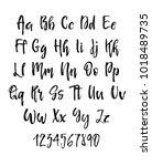 handwritten brush style modern... | Shutterstock . vector #1018489735