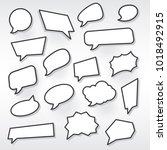 set of speech bubbles. vector... | Shutterstock .eps vector #1018492915