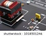 electronic circuit details | Shutterstock . vector #1018501246