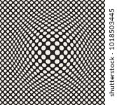 halftone bloat effect optical... | Shutterstock .eps vector #1018503445