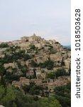gordes village  a picturesque... | Shutterstock . vector #1018503628