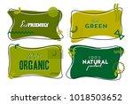flat linear eco  organic ...   Shutterstock .eps vector #1018503652