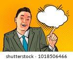 happy businessman or boss.... | Shutterstock .eps vector #1018506466