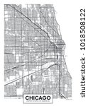 detailed vector poster city map ... | Shutterstock .eps vector #1018508122