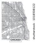 detailed vector poster city map ... | Shutterstock .eps vector #1018508122