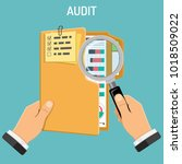 auditing  tax process ... | Shutterstock .eps vector #1018509022