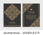 gold vintage greeting card on a ... | Shutterstock .eps vector #1018515175