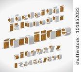 vector alphabet shaped... | Shutterstock .eps vector #101852032