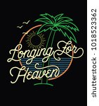 longing for heaven.retro style... | Shutterstock .eps vector #1018523362