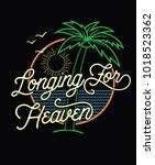 longing for heaven.retro style...   Shutterstock .eps vector #1018523362