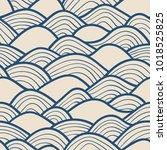 decorative seamless pattern.... | Shutterstock .eps vector #1018525825