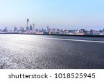 empty road with panoramic... | Shutterstock . vector #1018525945