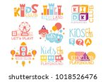 kids land playground and... | Shutterstock .eps vector #1018526476