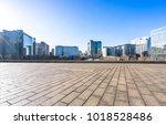 empty marble floor with... | Shutterstock . vector #1018528486