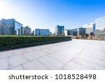 empty marble floor with... | Shutterstock . vector #1018528498