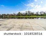 empty marble floor with... | Shutterstock . vector #1018528516