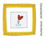 red heart herbarium in museum...   Shutterstock .eps vector #1018529542