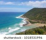 teddy's lookout  great ocean... | Shutterstock . vector #1018531996