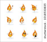 all set fire mascot and... | Shutterstock .eps vector #1018533835