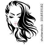 illustration of women long hair ...   Shutterstock .eps vector #1018535182