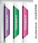 feedback labels and stickers on ... | Shutterstock .eps vector #101853988