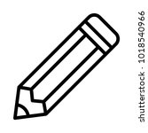 pencil stationery tool | Shutterstock .eps vector #1018540966