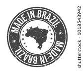 made in brazil america quality... | Shutterstock .eps vector #1018543942