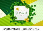 happy saint patrick's day... | Shutterstock .eps vector #1018548712